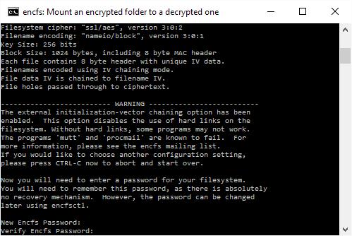 Enter your encryption password. Twice.