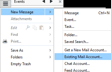You can add more mail accounts from the hamburger menu, 'New Message', 'Existing Mail Account'.